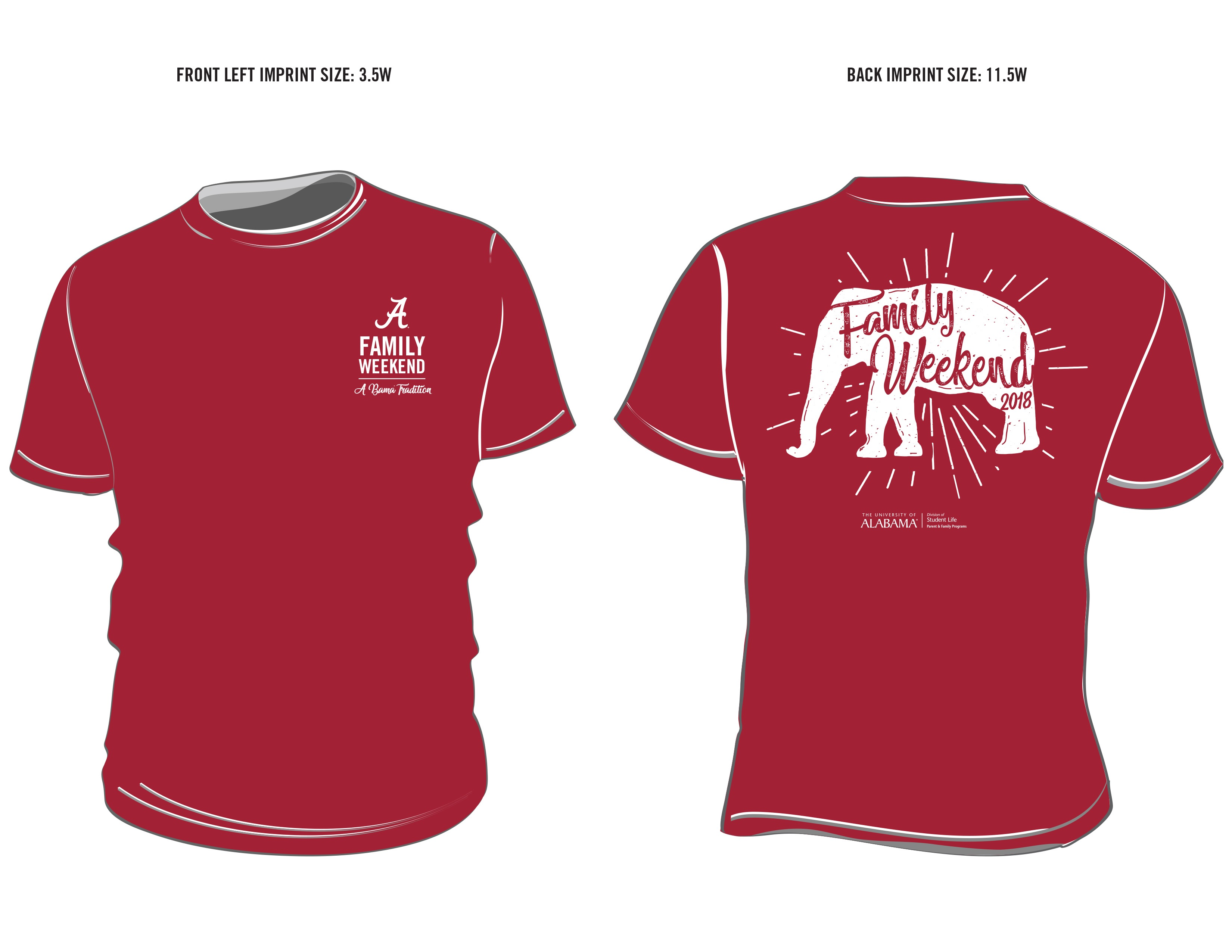 Family Weekend 2018 T Shirt Design Parent Family Programs