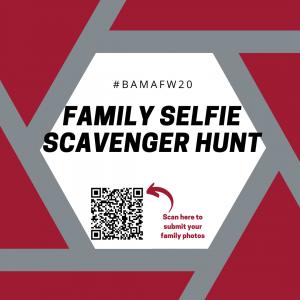 #BamaFW20 Family Selfie Scavenger Hunt flyer