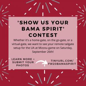 Show Us Your Spirit Contest flyer