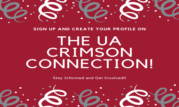 Sign up and create your profile on The Crimson Connection. Stay informed and get involved.