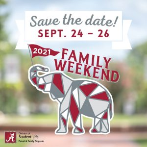 Save the Date Sept 24 - 26, 2012 Family Weekend